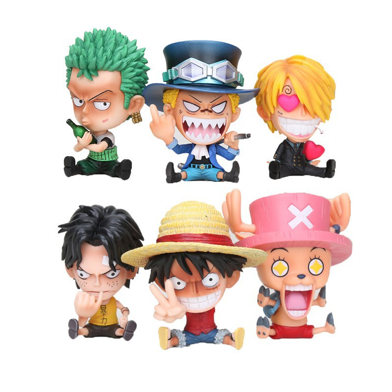 One Piece Action Figure Monkey D Luffy Ace Zoro Sanji Brook