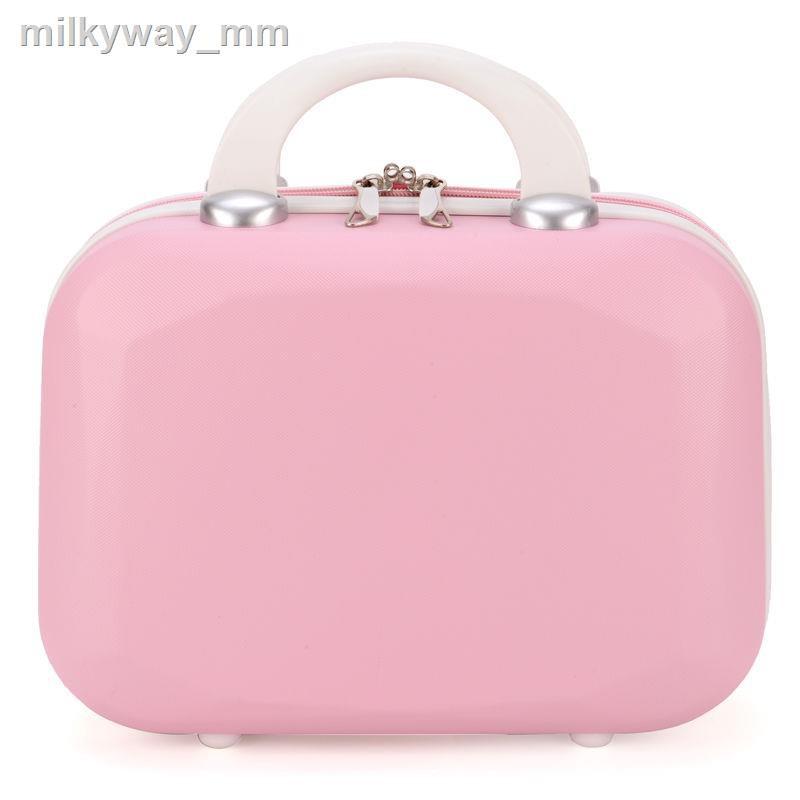 ✚กระเป๋าเครื่องสำอางค์ 14 นิ้วกระเป๋าเดินทางกระเป๋าเดินทางใบเล็กกระเป๋าเดินทางใบเล็กผู้หญิงใบเล็กสดและน่ารัก