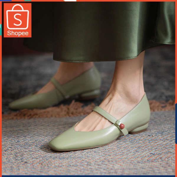 รองเท้าคัชชู ใส่สบาย สำหรับผู้หญิง รุ่นสีเรียบใส่ทำงาน รองเท้าเด็ก 2021 ใหม่ฤดูใบไม้ผลิและฤดูใบไม้ร่วงขนาดเล็กใสใหม่ปากต