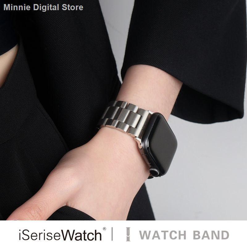 【อุปกรณ์เสริมของ applewatch】✒ใช้ได้ Applewatch6 Apple Watch 5 สาย iwatch4 สายสแตนเลส 3 โลหะ iserisewatch