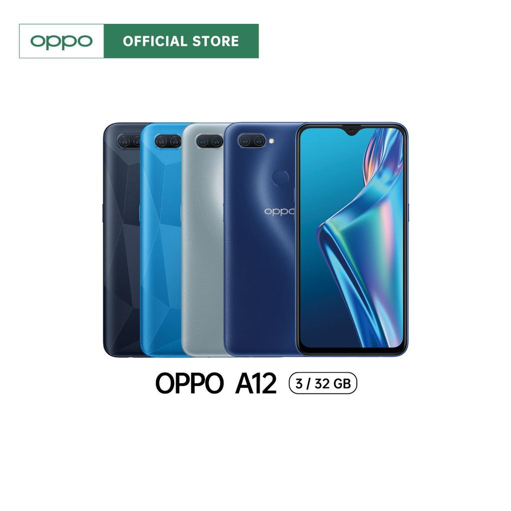 OPPO A12 3+32GB + กล้องหลังคู่ + จอกว้าง 6.2 นิ้ว + ของแถมมูลค่า 1,000 บาท | ผ่อน 0% นาน 10 เดือน