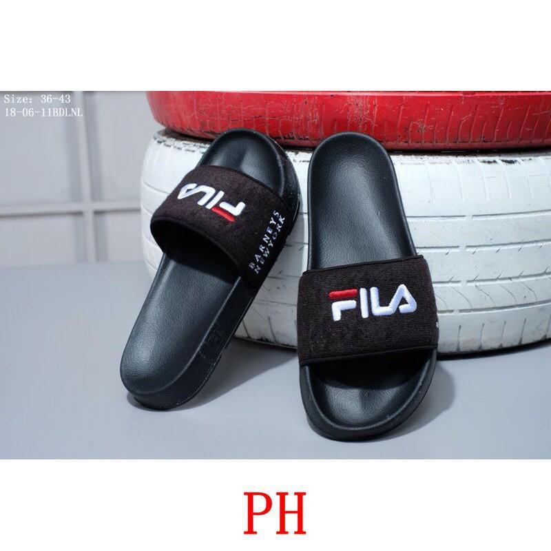 Fila Fila drifter X Barney ' s New York รองเท้าแตะลำลองสำหรับผู้ชายผู้หญิง