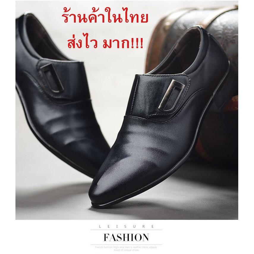 รองเท้าหนังผู้ชาย รองเท้าคัชชูผู้ชาย Casual shoes รองเท้าคัทชู รองเท้าหนัง สีดำ CA5