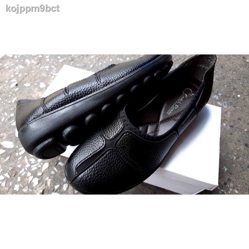 ขายดีเป็นเทน้ำเทท่า▫รองเท้าคัตชูหนังผู้หญิง รองเท้าคัชชูพื้นนุ่ม รองเท้าคัชชูสีดำ รองเท้าคัชชูพื้นไม่ลื่นรองเท้าคัชชูเพ