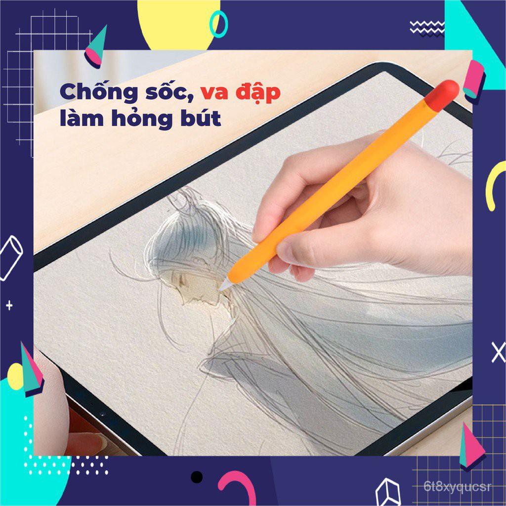 Czqh [MÃ MACHM10K giảm 10k đơn bất kỳ] Ốp Silicon Nhiều Màu Cho Bút Cảm Ứng Apple Pencil 2/1 Pencil Case
