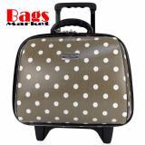 กระเป๋าเดินทาง polycarbonate₪Wheal กระเป๋าเดินทางล้อลากคุณภาพดี 14 นิ้ว 2 ล้อ Code F771914-3 B-Dot (Grey)