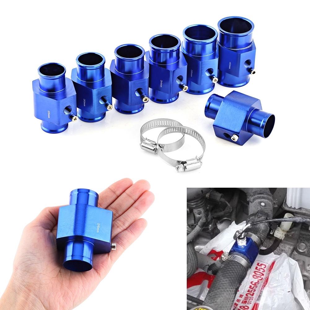 1Pc Car Water Temperature Joint Pipe Sensor Gauge Radiator Hose Adapter Kit Blue