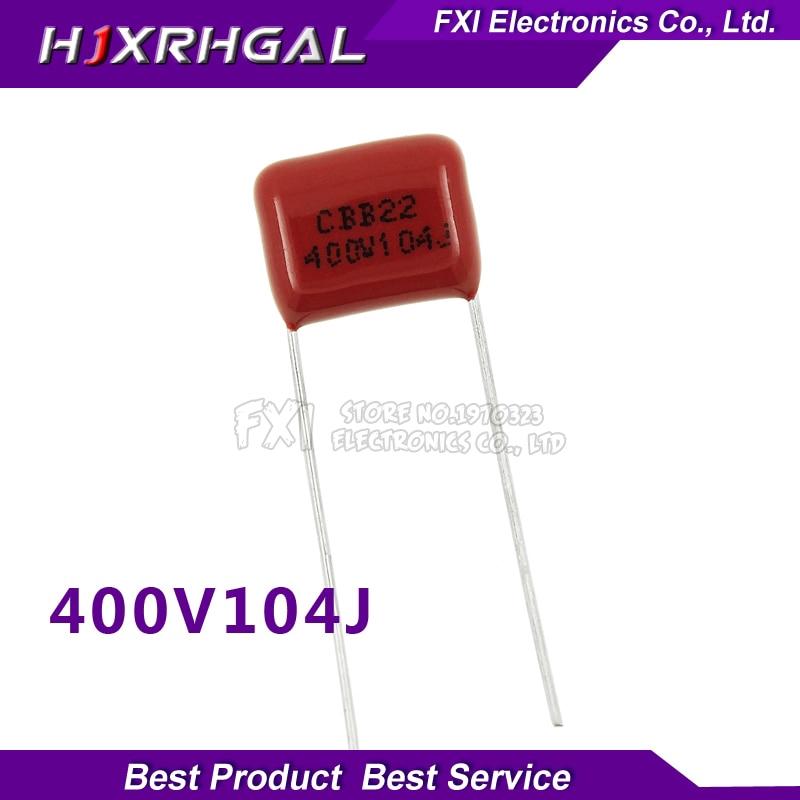 10PCS 400V104J Pitch 10mm 0.1UF 100NF 400V 104 CBB Polypropylene film capacitor new