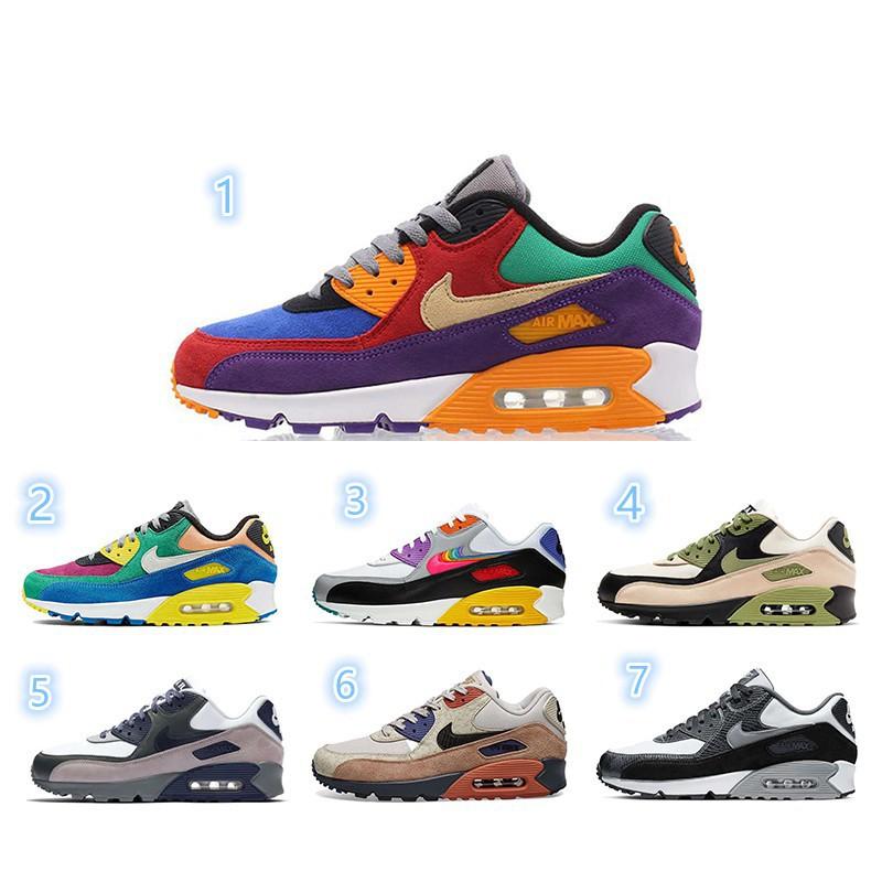 ราคาถูก♨□7 สี Nike Air Max 90 NRG Retro Running Shoes CI5646-1002001