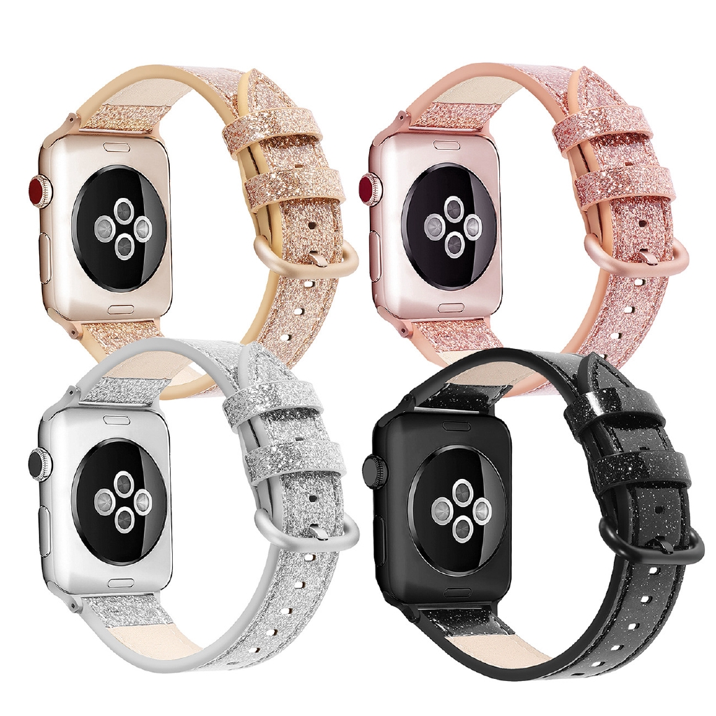 สายนาฬิกาข้อมือสายหนังวัวแท้สําหรับ Apple Watch