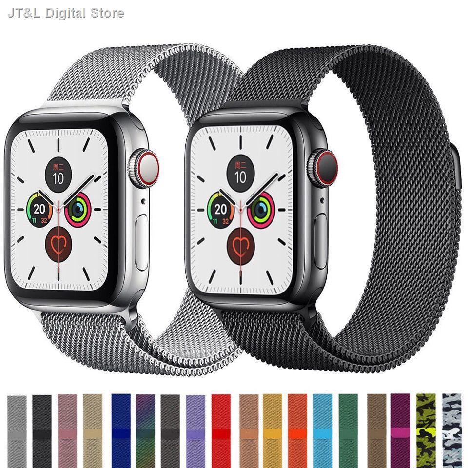【อุปกรณ์เสริมของ applewatch】₪สาย iwatch ที่ใช้งานได้สแตนเลสสตีล Milanese Apple Applewatch 6/5/4/3/21 รุ่น SE