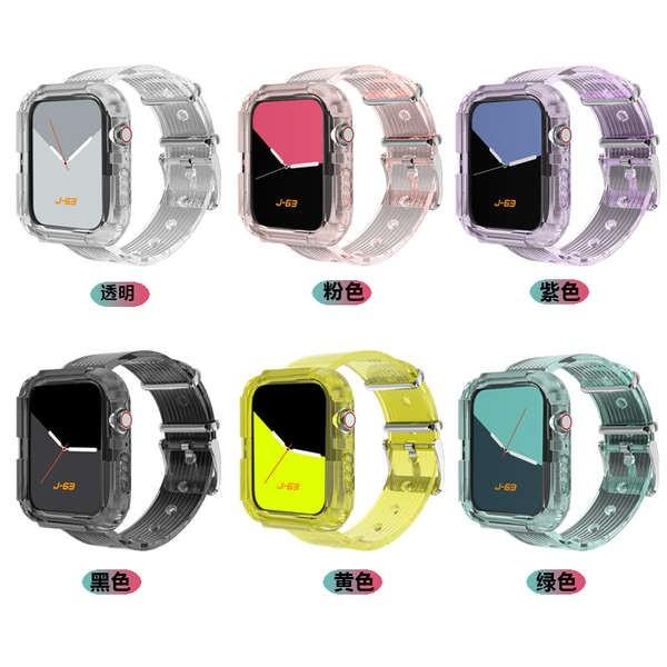สาย applewatch เหมาะสำหรับ Applewatch6 / SE เปลือกป้องกันสายรัด Apple Watch iwatch5 / 4/3 รุ่นรวมซิลิโคนป้องกันแบบรวมทุก