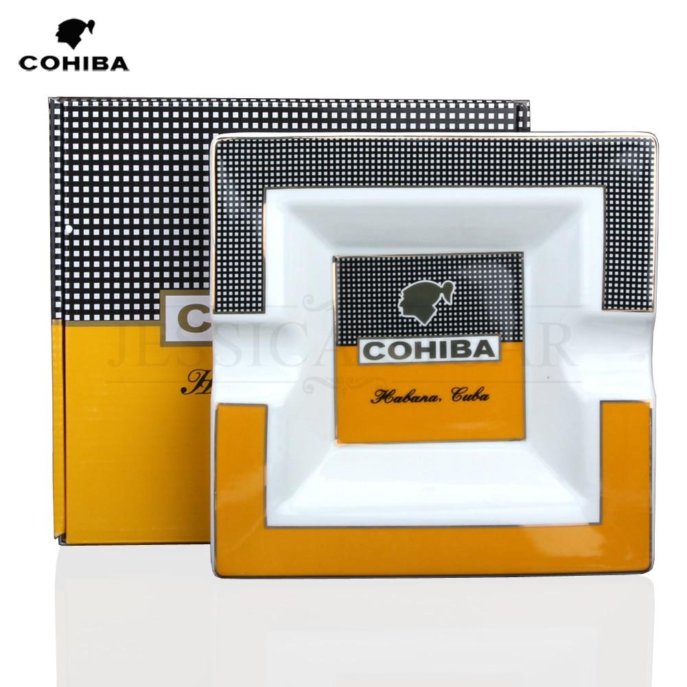Please CODCOHIBA Square Ceramic Cigarette Ashtrays 2 Holder 1 Ash Slot Table Cigar Ash Tray Large Ashtray For Home With