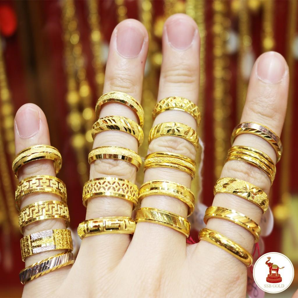 ราคาไม่แพงมาก❡❄แหวนทองครึ่งสลึง รวมลายรอบวง ทองแท้ 96.5% เลือกลายและไซส์ได้ (ผ่อน0%ผ่านบัตรเครดิต)