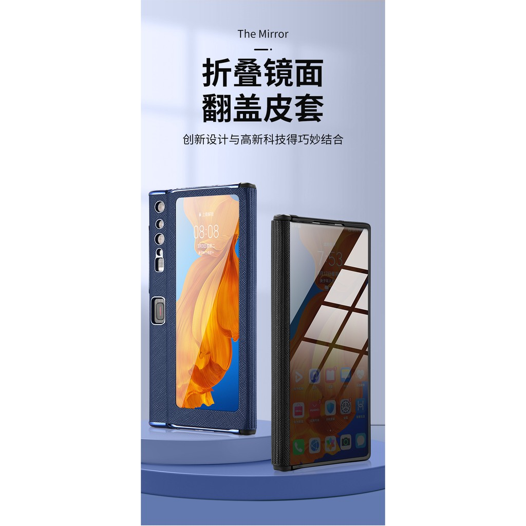 Image # 4of Review Huawei Folding Mobile Phone Protective Shell NewmateStreamer Electroplating Mirror Three-in-OnexsPhone Case Foldable Scr