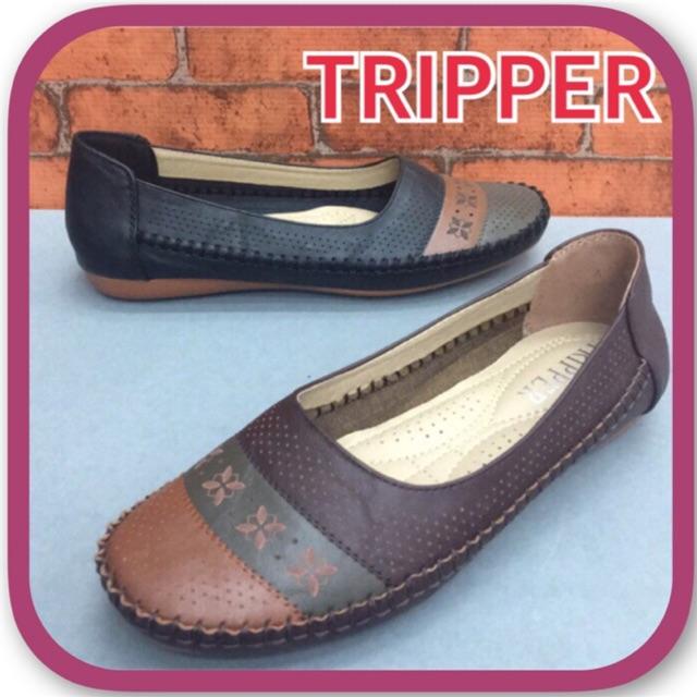 รองเท้าคัชชู TRIPPER รุ่น AT8860 สีดำ /น้ำตาล