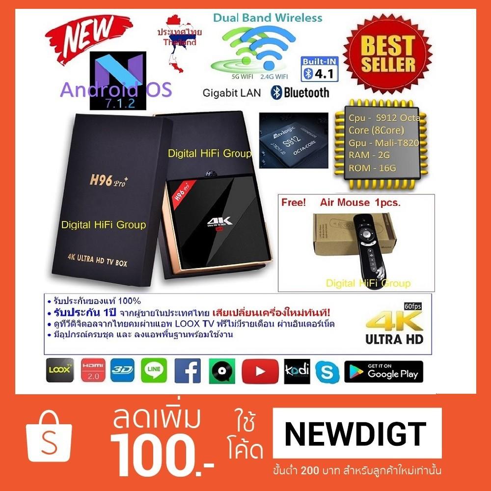 T95u Pro Android 71 Smart Tv Box Amlogic S912 Wifi Bt40 H265 H96 Plus Ram 3gb Rom 32gb Kodi Loaded Ultra Hd 4k Player 2gb 16gb Shopee Thailand
