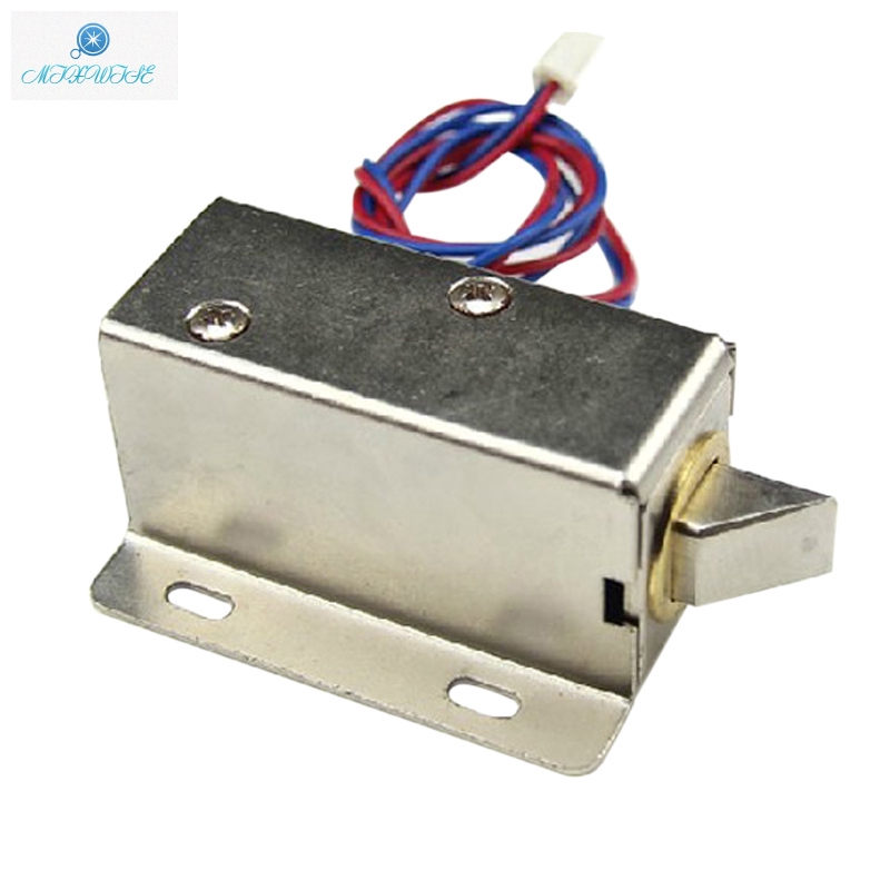 Slim Design Cabinet Electric Lock Assembly Solenoid DC 12V Lock Tongue Down