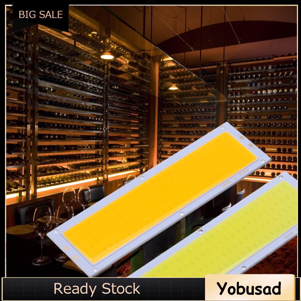 Yb. 12 V 10 W COB แผงไฟ LED หลอดไฟ 120 x 36 มม. สีขาว / ขาว