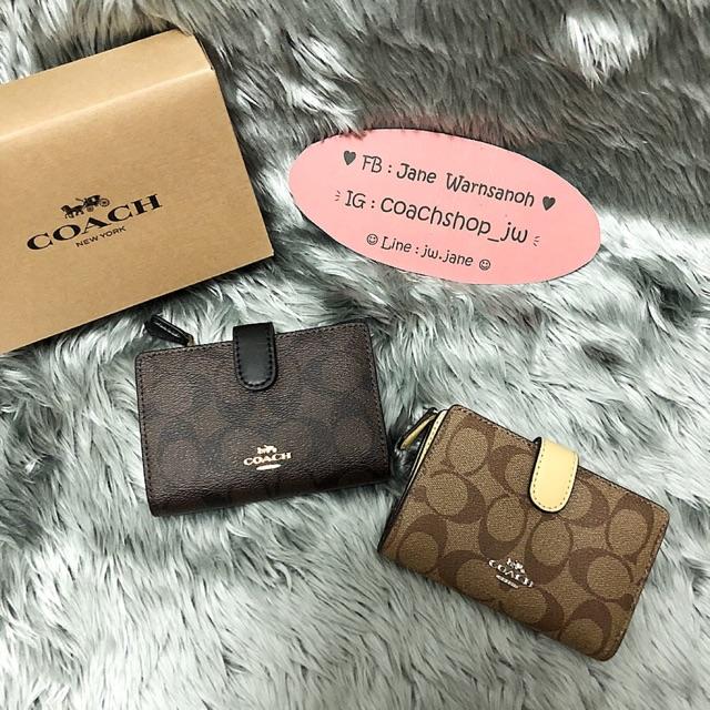 กระเป๋าสตางค์ Coach f23553 ใบสั้น แท้ 💯