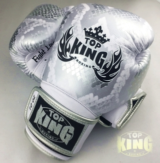 TOP KING BOXING GLOVES Topking gloves cowhide leather python skin style TK01 muaythai fighters professional man training