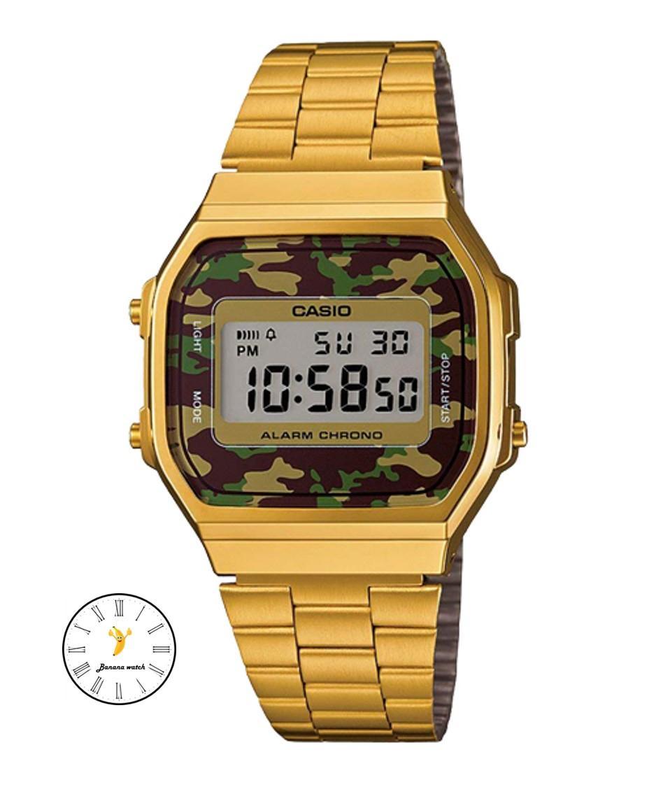CASIO Standard นาฬิกาข้อมือ สีทอง สายสแตนเลส รุ่น A168WEGC-3DF VgF7