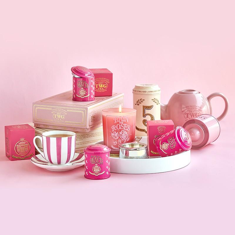 Shu Yunjia [สินค้าใหม่] TWG Tea Special Selection Oukaiti Tea Garden Mini Tea Jar, Darjeeling Tweed ในฤดูใบไม้ร่วง