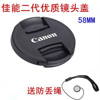 Canon 50mm f / 1.4 50 1.4 ฝาครอบเลนส์ EF 24mm f / 2.8 ฝาปิดเลนส์โฟกัสคงที่ 58MM ส่งเชือก