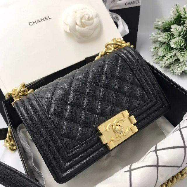 ชาแนลบอย คาร์เวีย สีดำ งาน ออริจินอล ดีสุด เย็บตรงของแท้ทุกจุด Chanel BOY