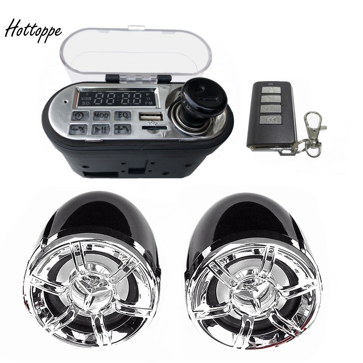 Motorcycle Audio System Waterproof Bluetooth TF MP3 Music Player Kit MKTH