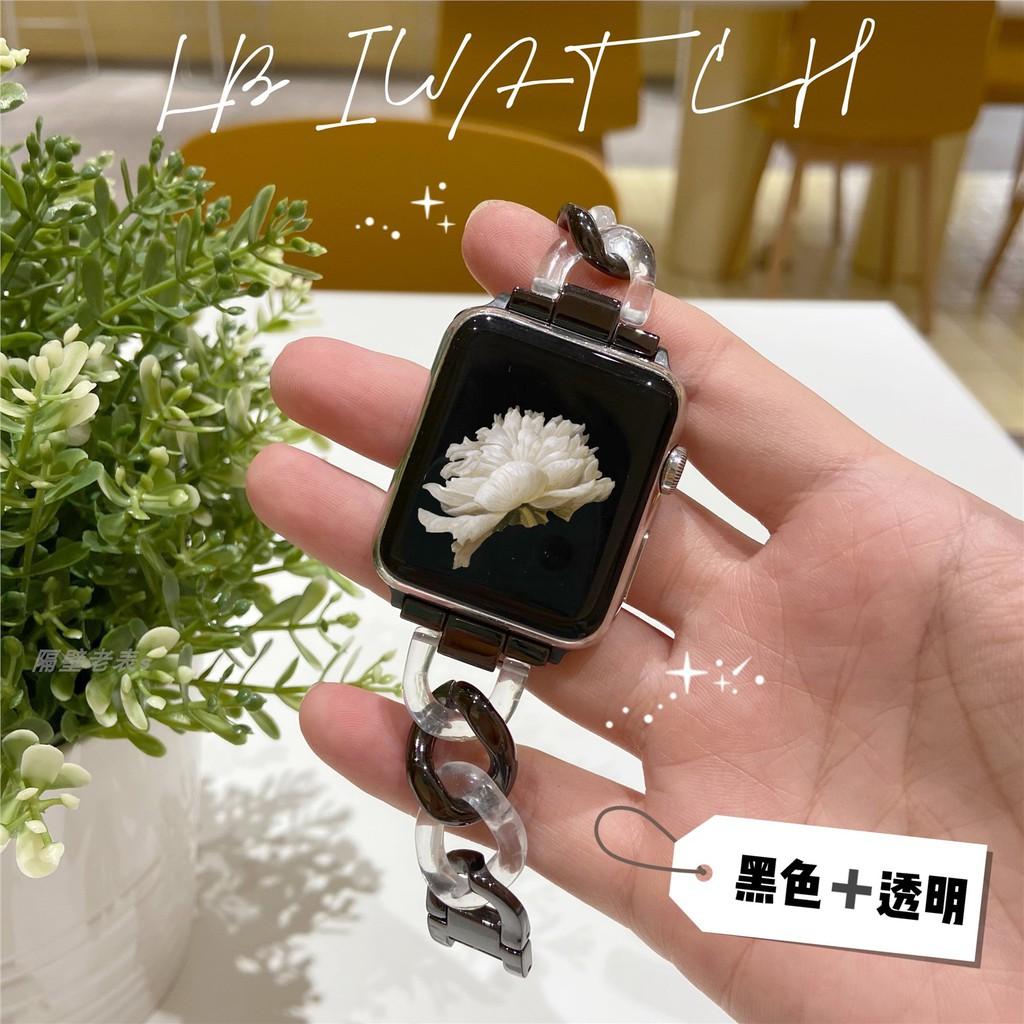 applewatch6 เข็มขัด✚♗สาย Apple Watch ที่ใช้งานได้ 6 ApplewatchSE โลหะเดนิมโซ่ 40 / 44iwatch3 4/5
