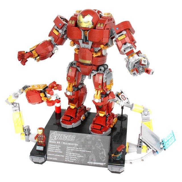 Marvel Avengers Ironman Hall of Armor+Hulkbuster Figures Building Blocks DIY Toy