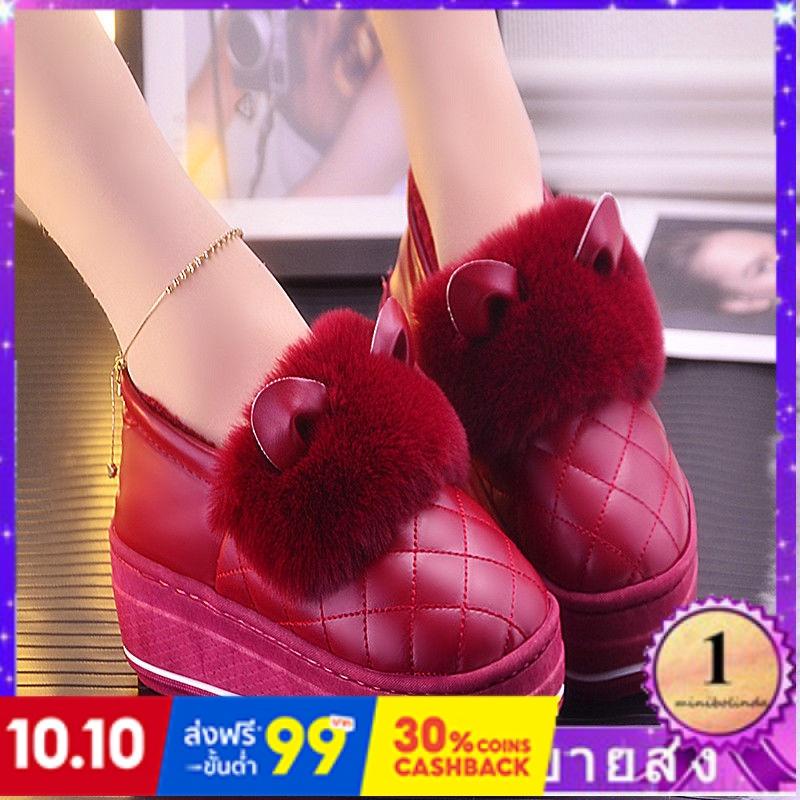 ⭐👠รองเท้าส้นสูง หัวแหลม ส้นเข็ม ใส่สบาย New Fshion รองเท้าคัชชูหัวแหลม  รองเท้าแฟชั่นรองเท้าแตะผ้าฝ้ายผู้หญิงครึ่งแพ็คกั