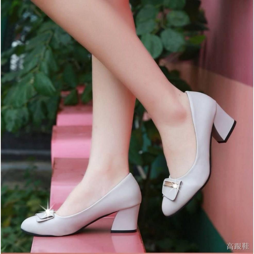 ☀รองเท้าส้นสูง☀✨✨ คัชชูหัวแหลมส้นสูงผู้หญิง รองเท้าส้นสูงแฟชั่นขายดี รองเท้าคัชชูส้นสูง 2 นิ้ว No.F100✨✨