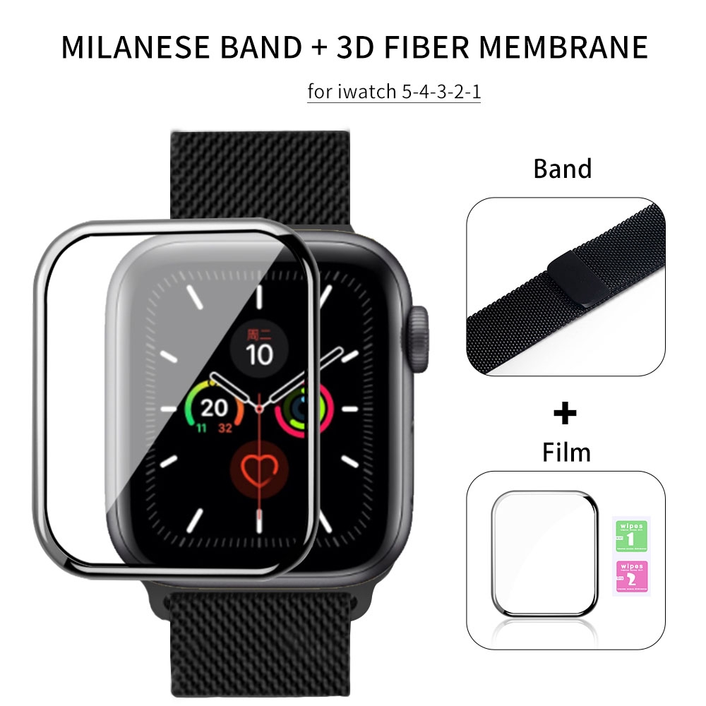 flim+สายนาฬิกาข้อมือโลหะ milanese สาย applewatch 44 มม. 40 มม.42 มม. 38 มม iwatch series 6 se 5 4 3 2 1 สายนาฬิกา