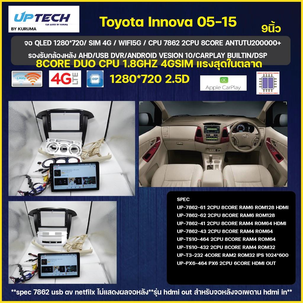 จอ Android Toyota innova 05-15 9นิ้ว SC7862 2CPU 8CORE 6+128/4+64/4+32 V10 DSP 4G WIFI5G CARPLAY/T3 4CORE 2+32