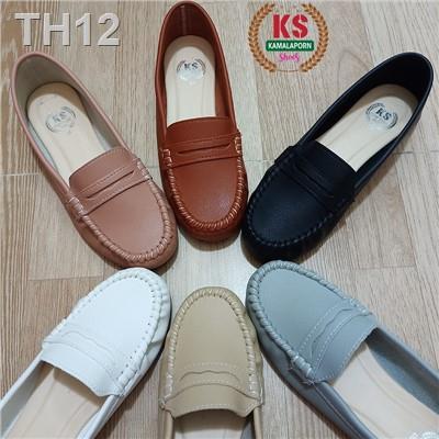 ❣[HOT🔥พร้อมส่ง] รองเท้าคัชชูผู้หญิง คัทชูผู้หญิง รองเท้าใส่ทำงาน ใส่เที่ยว แบบหุ้มส้น พื้นเตี้ย สไตล์โลฟเฟอร์ 5⭐️ รหัส