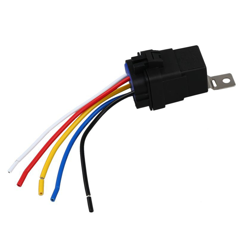 Relays 5x 5Pin Automotive Relay Switch Harness Waterproof ... on