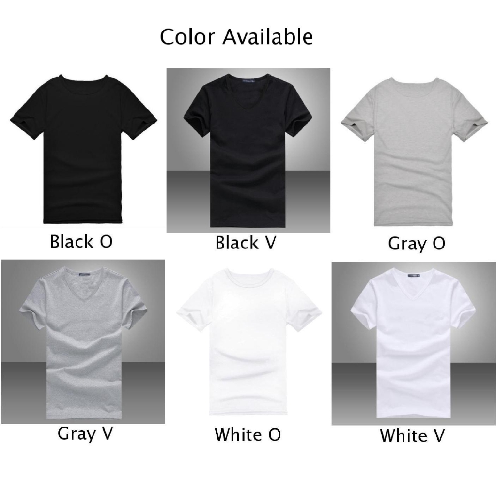 V//Round Neck Tops T-shirt Micro Fiber Gentle Men Short Sleeve 6 Colors Summer