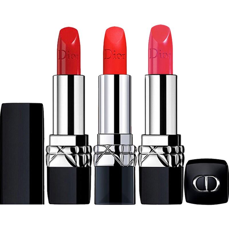 พร้อมส่ง ลิปสติก Dior Lip Glow Rouge Dior Matte Lipstick Couture Colour Comfort and Wear Lipstick, 999 ลิปสติกดิออร์ ลิป