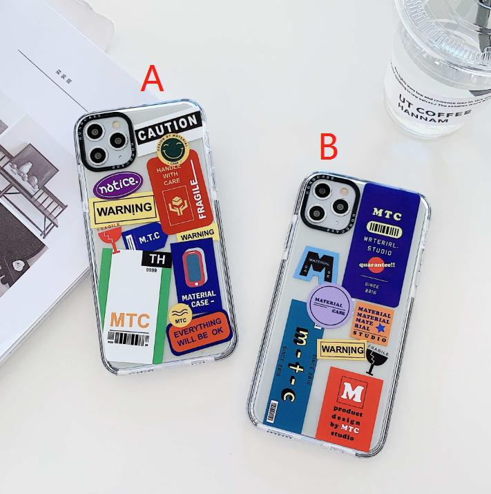 ในสต็อก soft case iphone11 pro max xr xs max i7 iphone8 8plus เคสโทรศัพท์มือถือสองสีป้ายบุคลิกภาพ TPU รวมทุกอย่าง