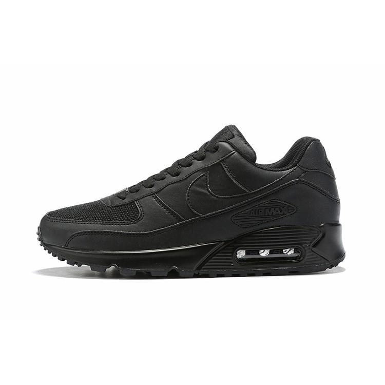 แท้ NIKE AIR Max90 ผู้ชายและผู้หญิง สีดำ จดหมาย รองเท้าลำลอง รองเท้ากีฬา รองเท้าวิ่ง AQ9087-185