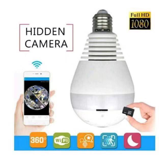 cctv ราคาถูก กล้องวงจรปิด360องศา ทรงหลอดไฟ Full View มีWiFi ดูผ่านมือถือได้ ออนไลน์