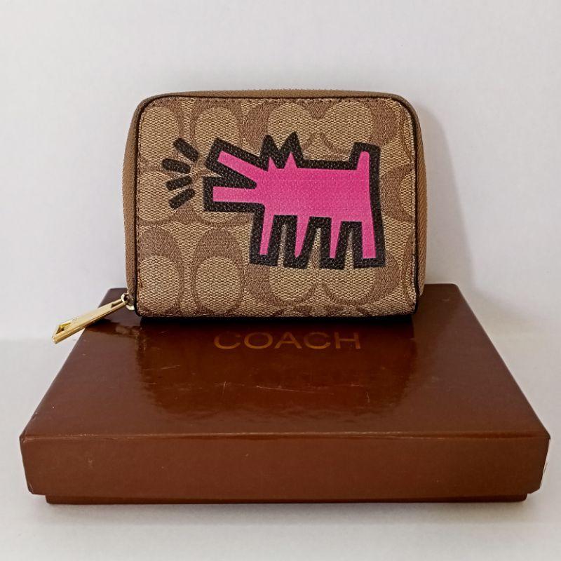 กระเป๋าสตางค์ COACH งานปั้ม ใบสั้น 4.5 นิ้ว