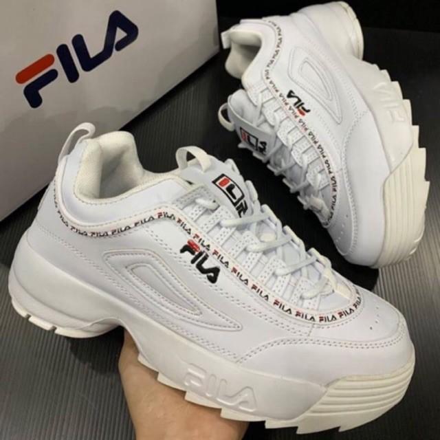 รองเท้าวิ่งรองเท้ากีฬา⌵รองเท้าผ้าใบตาข่าย⌵ รองเท้าผ้าใบ FILA DISRUPTOR II