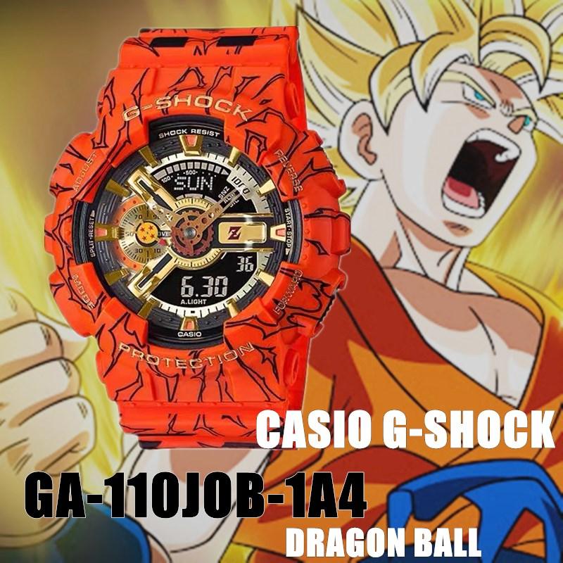 (ลดล้างสต๊อก)CASIO G-SHOCK นาฬิกาข้อมือแฟชั่นในรูแบบ Dragon Ball รุ่น GA-110JOB-1A4 สุดฮอตในปี2020 หน้าปัด40mm