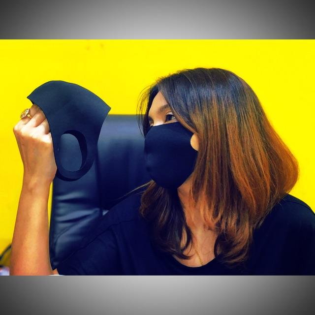 ผ้าปิดจมูกกันน้ำ Spandex Fabric Mask