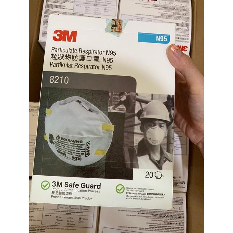 3m N95 หน้ากากประเภท 8210 1 กล่อง Contents 20 ชิ้น
