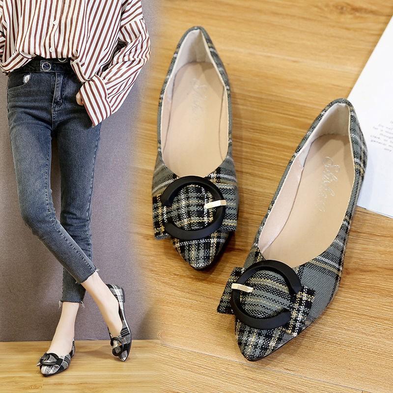 รองเท้าผู้หญิง🌺รองเท้าคัชชู หัวแหลม🌺รองเท้าโลฟเฟอร์🌺รองเท้าทำงาน รองเท้าส้นแบน รองเท้าเดียวผู้หญิง งานดี