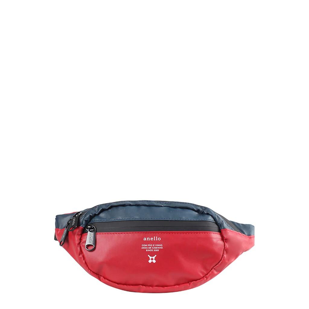 กระเป๋าคาดเอว Anello REG W-Proof Waistbag_OS-N019 สีแดง กระเป๋า ผู้หญิง กระเป๋าคาดอก ANELLO ผลิตจากวัสดุ PVC สามารถกัน